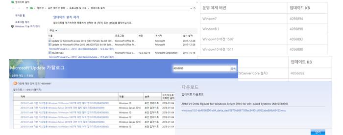 Intel CPU 취약점 Windows 보안 업데이트