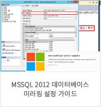 MSSQL 2012 데이터베이스 미러링 설정 가이드
