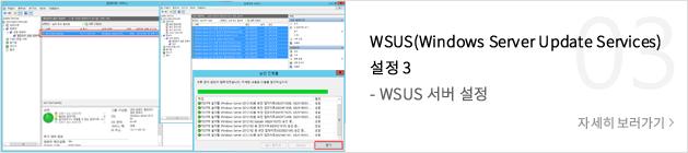 WSUS(Windows Server Update Services) 설정 3 - WSUS 서버 설정