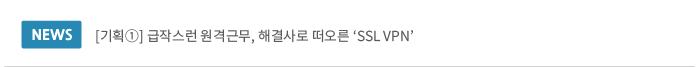급작스런 원격근무, 해결사로 떠오른 SSL VPN