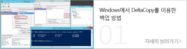 Windows에서 DeltaCopy를 이용한 백업 방법