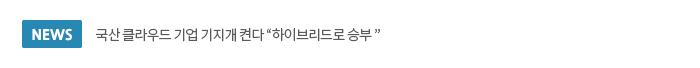 국산 클라우드 기업 기지개 켠다 '하이브리드로 승부'
