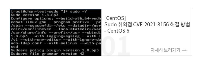[CentOS] Sudo 취약점 CVE-2021-3156 해결 방법 - CentOS 6