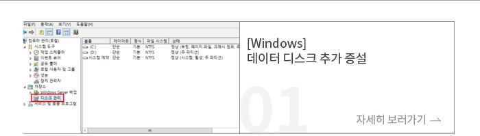 [Windows] 데이터 디스크 추가 증설