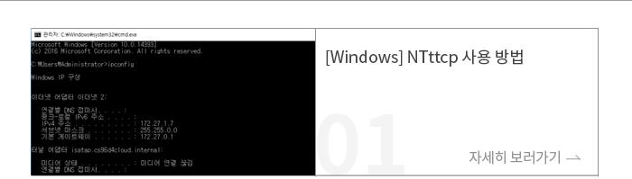 [Windows] NTttcp 사용 방법